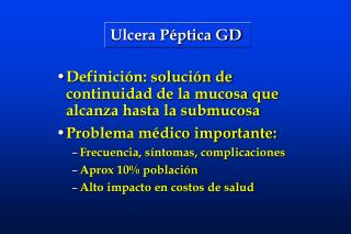 Ulcera P ptica GD