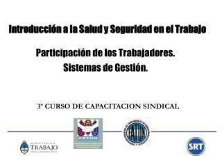 Introducci n a la Salud y Seguridad en el Trabajo   Participaci n de los Trabajadores.  Sistemas de Gesti n.