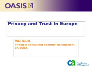Privacy and Trust In Europe