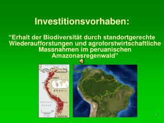 Investitionsvorhaben:   Erhalt der Biodiversit t durch standortgerechte Wiederaufforstungen und agroforstwirtschaftliche