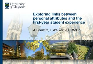 Exploring links between personal attributes and the first-year student experience