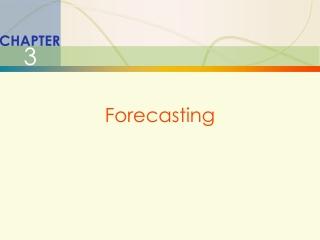 1 Forecasting Horizon