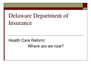Delaware Department of Insurance