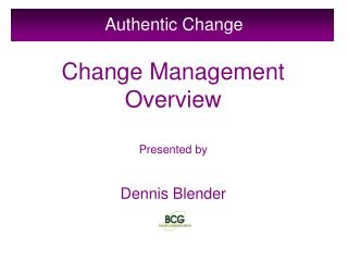 Authentic Change