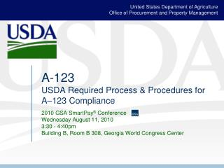 A-123  USDA Required Process  Procedures for A 123 Compliance