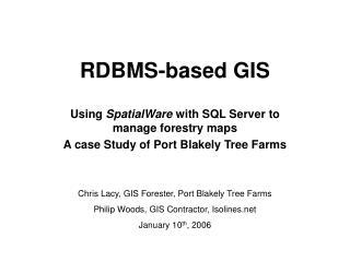 RDBMS-based GIS