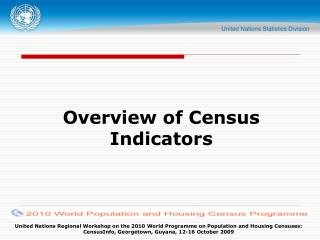 Overview of Census Indicators