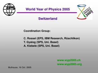 Switzerland - WYP2005