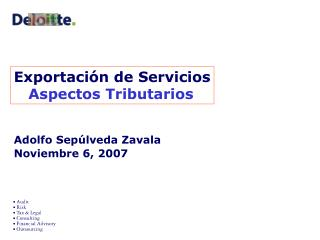 Exportaci n de Servicios    Aspectos Tributarios