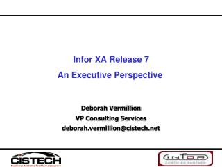 Infor XA Release 7 An Executive Perspective