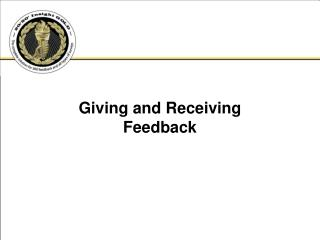 Giving and Receiving Feedback