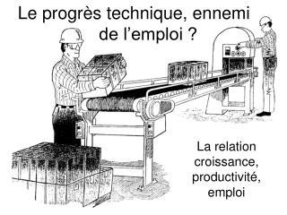 Le progr s technique, ennemi    de l emploi