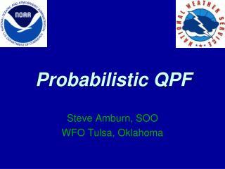 Probabilistic QPF