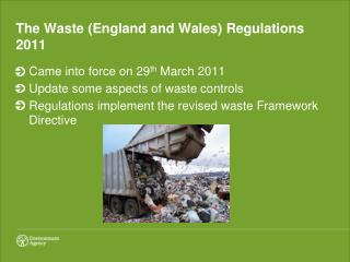 The Waste England and Wales Regulations 2011