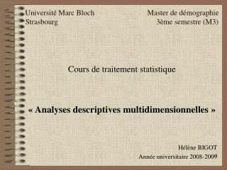 Universit  Marc Bloch                            Master de d mographie Strasbourg