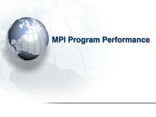 MPI Program Performance