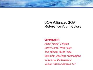 SOA Alliance: SOA Reference Architecture