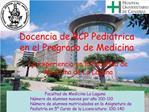 Docencia de RCP Pedi trica en el Pregrado de Medicina