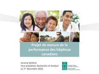 Projet de mesure de la performance des h pitaux canadiens