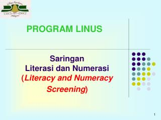 Saringan  Literasi dan Numerasi  Literacy and Numeracy Screening