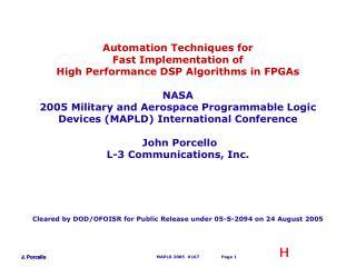 MAPLD 2005  167