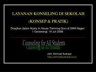 Counseling for All Students