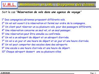 Mod lisation en UML : Diagramme des classes