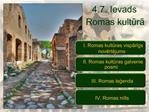 4.7. Ievads Romas kultura