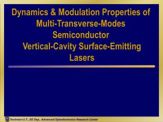 Dynamics  Modulation Properties of Multi-Transverse-Modes Semiconductor  Vertical-Cavity Surface-Emitting  Lasers