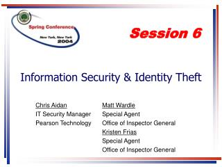 Information Security  Identity Theft