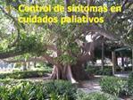 Control de s ntomas en cuidados paliativos