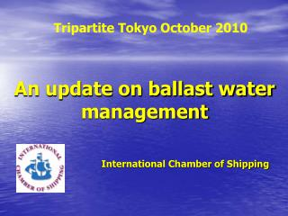An update on ballast water management