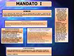 MANDATO  I