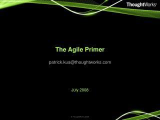 The Agile Primer