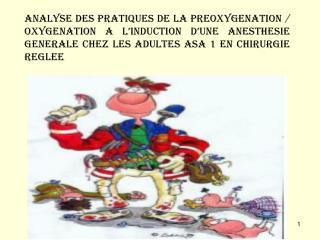 ANALYSE DES PRATIQUES DE LA PREOXYGENATION
