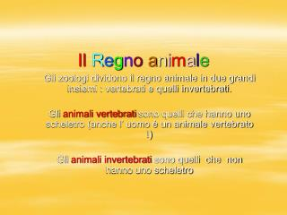Il Regno animale