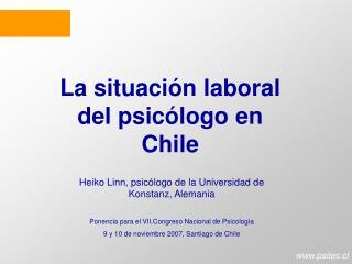 La situaci n laboral del psic logo en Chile