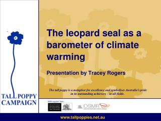 The leopard seal as a barometer of climate warming