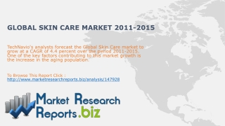 Global Skin Care Market 2011-2015: MarketResearchReports