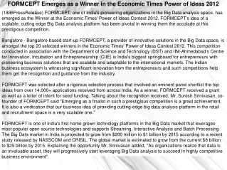 FORMCEPT Emerges as a Winner in the Economic Times Power of