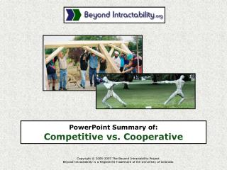 PowerPoint Summary of:  Competitive vs. Cooperative