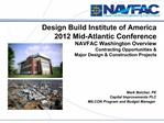 Design Build Institute of America  2012 Mid-Atlantic Conference   NAVFAC Washington Overview  Contracting Opportunities