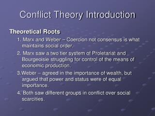 Conflict Theory Introduction