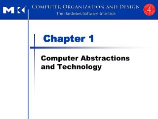 Computer Abstractions and Technology