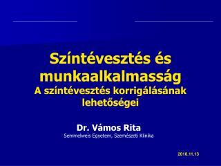 Dr. V mos Rita Semmelweis Egyetem, Szem szeti Klinika
