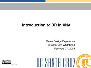 Introduction to 3D in XNA