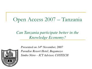 Open Access 2007
