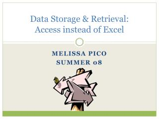 Data Storage  Retrieval: