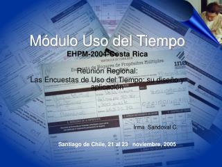 M dulo Uso del Tiempo EHPM-2004-Costa Rica