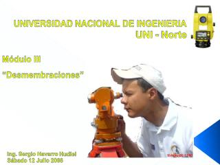 UNIVERSIDAD NACIONAL DE INGENIERIA                                              UNI - Norte